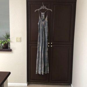 Flowy tie dye maxi dress